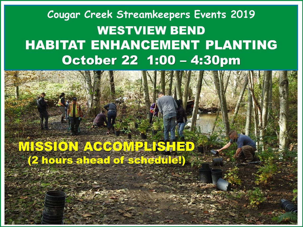Westview Bend habitat enhancement planting